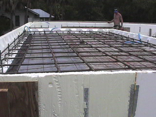 Icf walls roof tom helen for Icf concrete roof